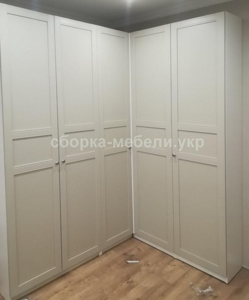сборка углового распашного шкафа
