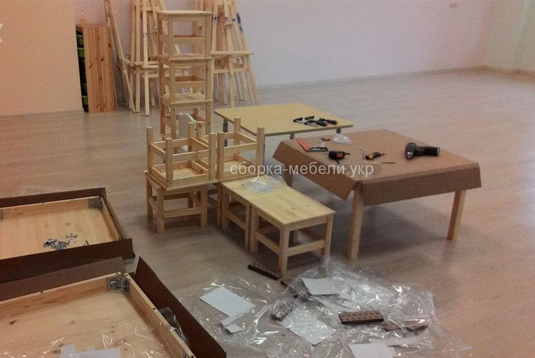 сборка детских стульев