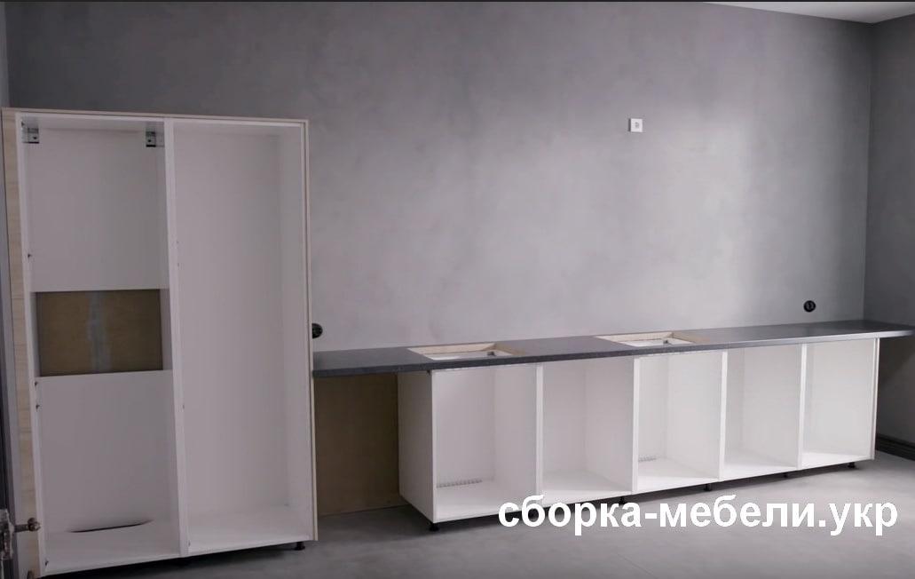 как собрать кухню Ikea