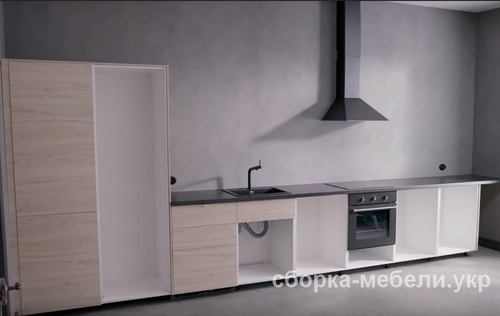 сборка кухонной мебели Ikea Нивки