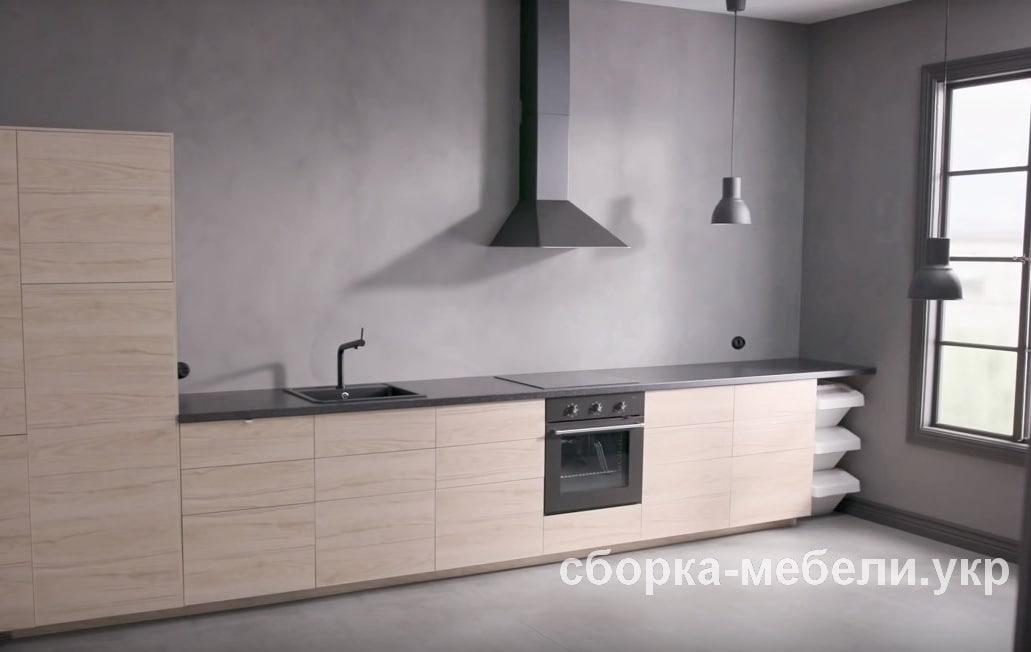 правильно установленная кухня