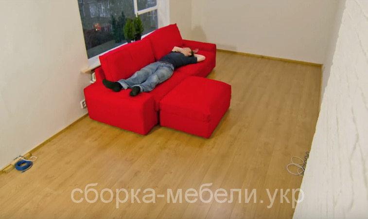 сборка дивана с пуфиком КИев