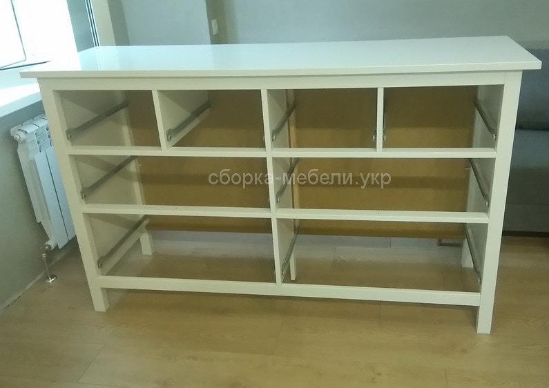 сборка деревянного комода IKEA